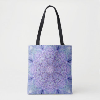 Wooden Purple Lace Tote Bag