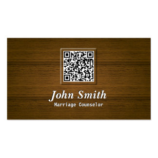 Wooden QR Code Marriage Counseling Business Card