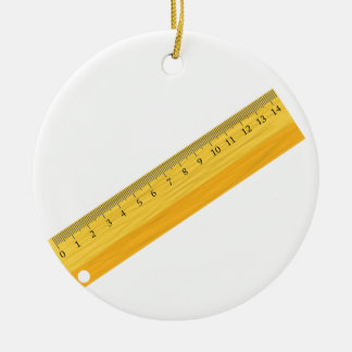 wooden ruler ceramic ornament