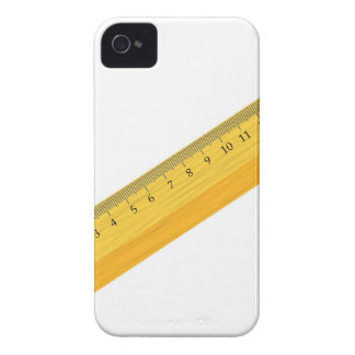wooden ruler iPhone 4 cover