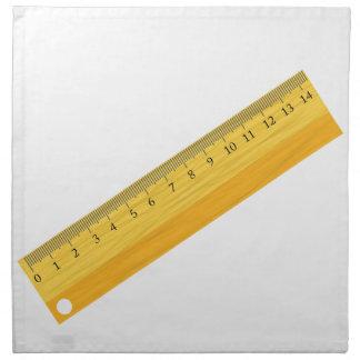 wooden ruler napkin