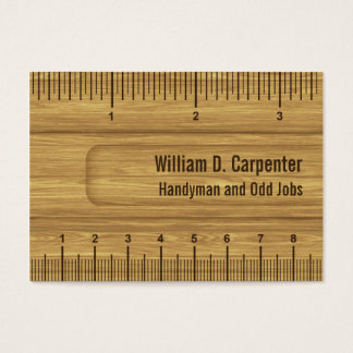 Wooden Ruler or Rule Builder or Carpenter Business Card