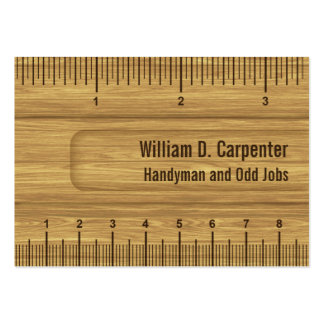 Wooden Ruler or Rule Builder or Carpenter Pack Of Chubby Business Cards