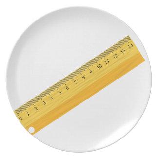 wooden ruler plate