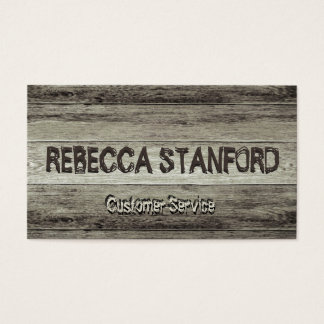 Wooden Rustic Background Business Card