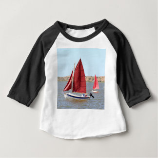 Wooden sail boat baby T-Shirt