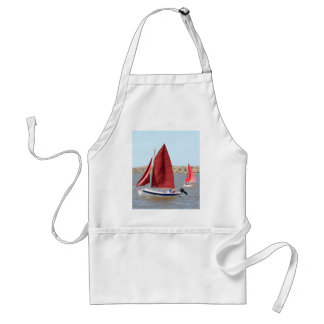 Wooden sail boat standard apron
