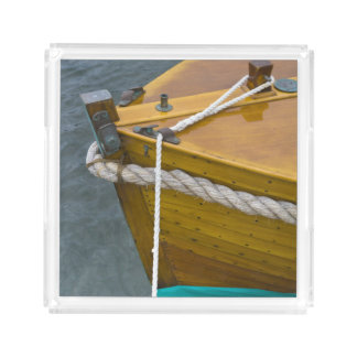 Wooden Sailboat In Water Perfume Tray