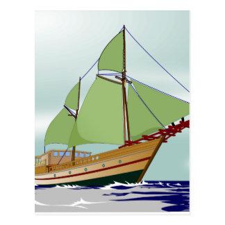 Wooden Sailboat Postcard