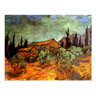 Wooden Sheds, a Van Gogh painting Postcard