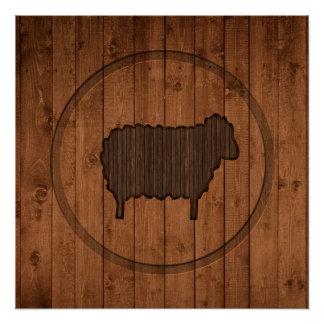 Wooden Sheep Poster Paper (Semi-Gloss)
