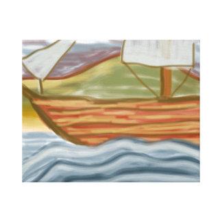 'Wooden Ship' 20x16 Premium Canvas (Gloss)
