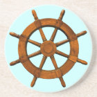 Wooden Ships Helm Coaster