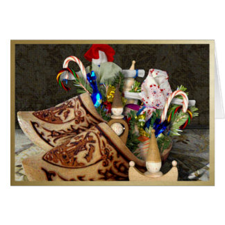 Wooden Shoes for Het Sint Nicolaasfeest - NoteCard