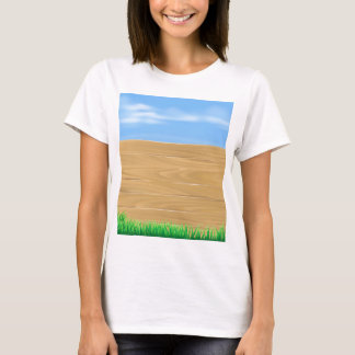 Wooden sign in field T-Shirt