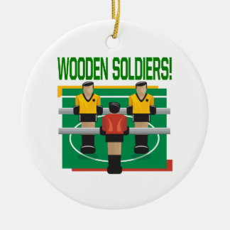 Wooden Soldiers Ceramic Ornament