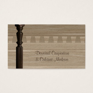 Wooden spindle and dovetail joint business card
