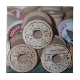 Wooden Spools Tile
