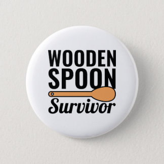 Wooden Spoon Survivor 2 Inch Round Button