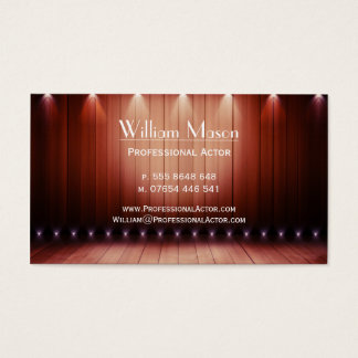 Wooden Spotlight Stage, Actor - Business Card