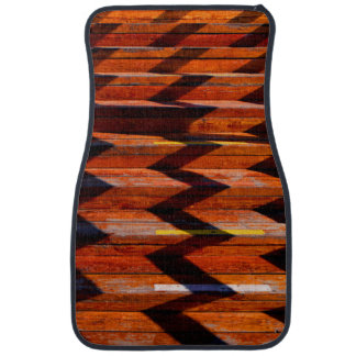Wooden Stairs and Shadows Car Mat