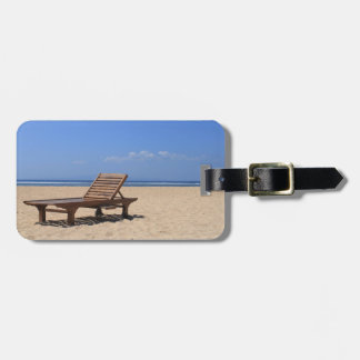 Wooden sunbed luggage tag