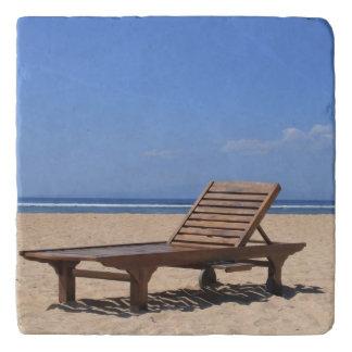 Wooden sunbed trivet