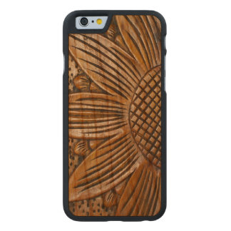 Wooden Sunflower Print Carved® Wood iPhone 6 6S Carved® Cherry iPhone 6 Case