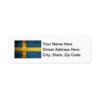 Wooden Sweden Flag