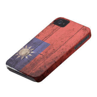 Wooden Taiwan Flag iPhone 4 Cover
