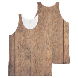 Wooden texture All-Over-Print tank top