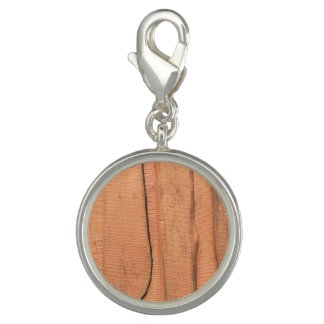 Wooden texture charms