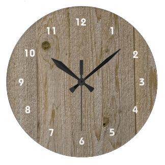 Wooden Texture Clock