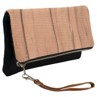 Wooden texture clutch
