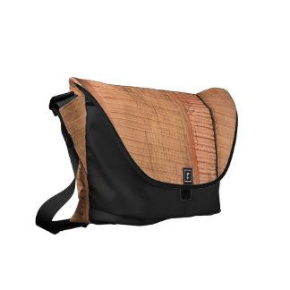 Wooden texture commuter bag