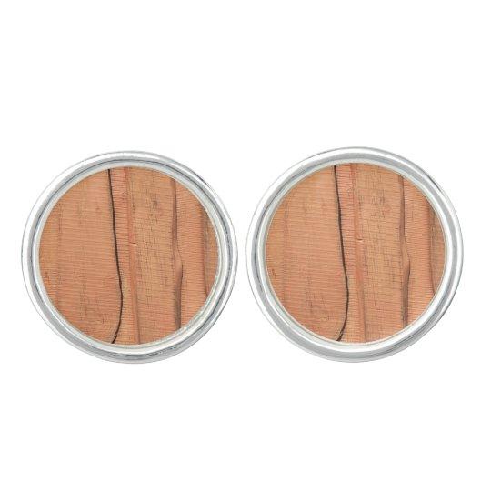Wooden texture cuff links