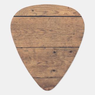 Wooden texture guitar pick