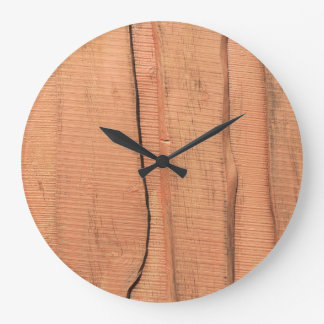 Wooden texture large clock