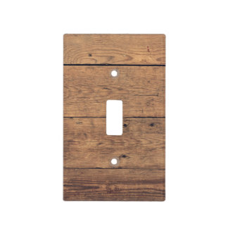 Wooden texture light switch cover