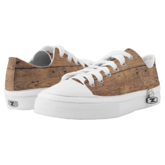 Wooden texture Low-Top sneakers