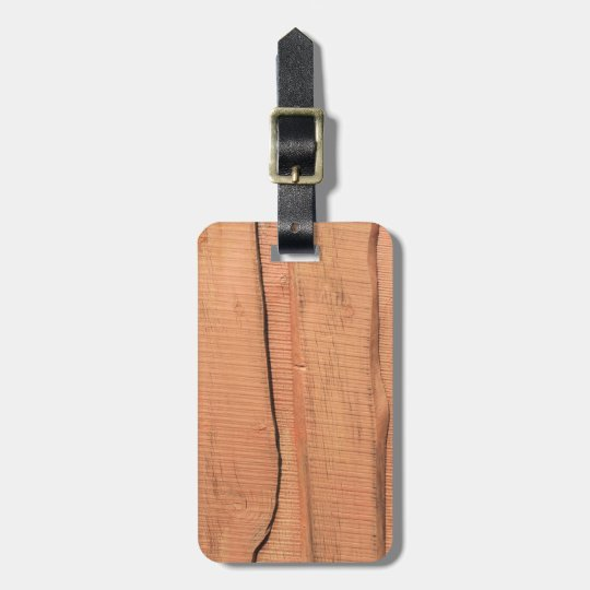 Wooden texture luggage tag