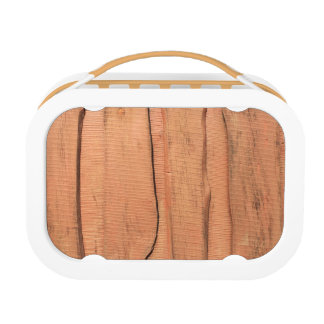 Wooden texture lunch box