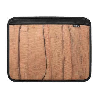 Wooden texture MacBook sleeve