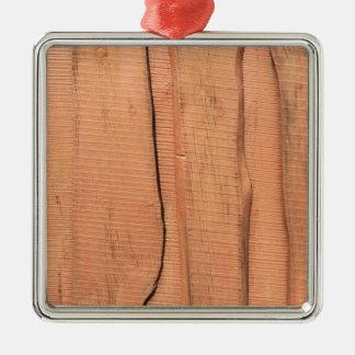 Wooden texture metal ornament