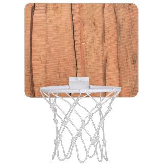Wooden texture mini basketball hoop