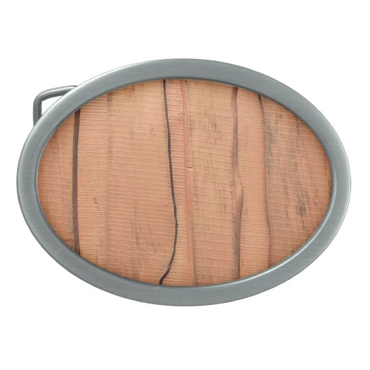 Wooden texture oval belt buckle