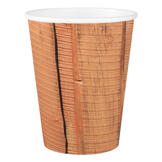 Wooden texture paper cup