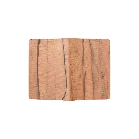 Wooden texture passport holder