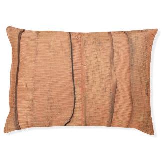 Wooden texture pet bed