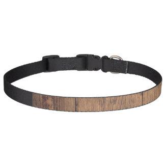 Wooden texture pet collar